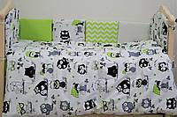 Комплект детской постели в кроватку «Joy» из (6 ед.) (бампер с 10 эл.), фото 1
