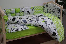 Комплекты в кроватку 6 предметов «Joy» комбинированный, зеленый