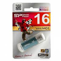 Флешка  16Gb  Silicon Power Marvel M01 USB3.0  Blue(Распродажа!!!)