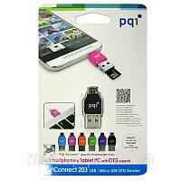 Кардридер PQI Connect 203 Reader microSD to microUSB черный