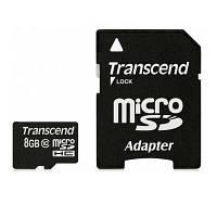 Карта памяти   micro-SDHC 8Gb Transcend Class10