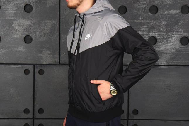 Ветровка Nike серо-черная, виндранер, фото 2