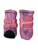 Мягкие ботинки для собак -Розовый-№M