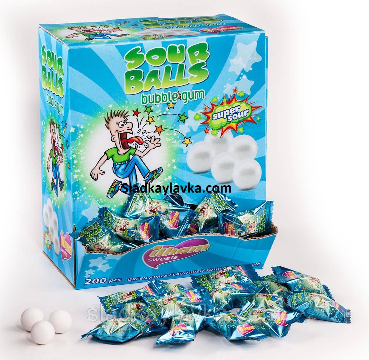 Жевательная резинка  Sour Ball  200 шт (ILHAM)