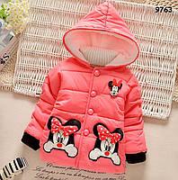Демисезонная куртка Minnie Mouse для девочки. 2, 3, 4 года
