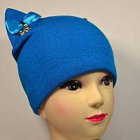 Женская шапка Kitty с ушками на флисе