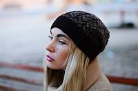 Женская вязаная шапка La Visio 164 коричневый