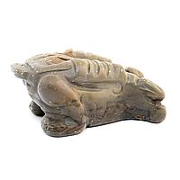 Яшма горчичная, статуэтка лягушка денежная, 256ФГЯ