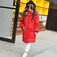 Теплая куртка для девочки Красотка