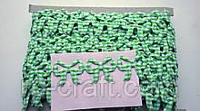 Тасьма декоративна з елементів, зелений лук в клітку, 20х23 мм