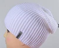 Женская шапка NORD Цепочка белая