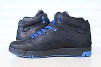 Мужские кожаные зимние спортивные ботинки