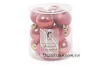 Набор елочных шаров 4см клубника (12шт)