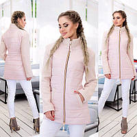 Удлиненная женская куртка на молнии