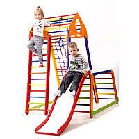Детский спортивный комплекс ТМ SportBaby: BambinoWood Color Plus 1-1 (Украина)