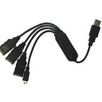 Концентратор USB2.0  Viewcon VE446 4port(3AF.1-5P)