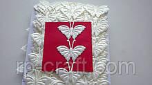 Тасьма декоративна з елементів, метелики молочні, 22х32 мм