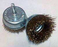 Корщетка на дрель рифленая проволока мягкая 75мм