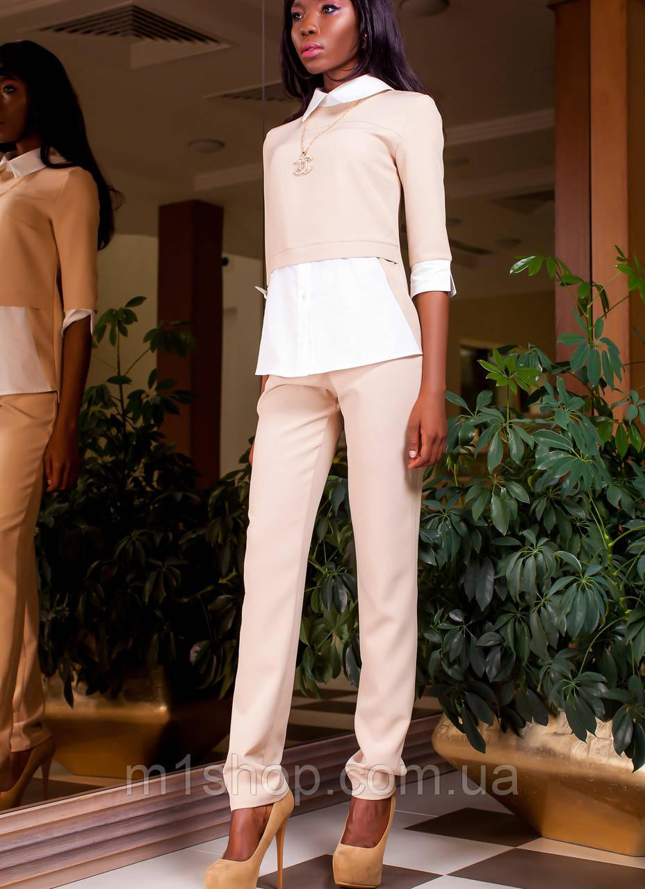 ae19e4e302b Женский брючный костюм с имитацией блузки (Венди jd ) - « m1shop » женская