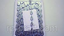 Тасьма декоративна з елементів, лист сріблястий, блискучий, 9х17 мм