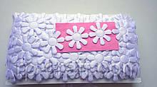 Тасьма декоративна з елементів, білий квітка, 34х34 мм
