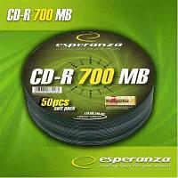 Диск CD-R  Esperanza 700Mb/80min  (bulk  50)