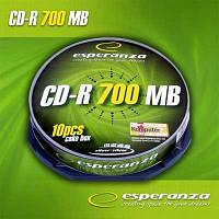 Диск CD-R  Esperanza 700Mb/80min   cake 10)
