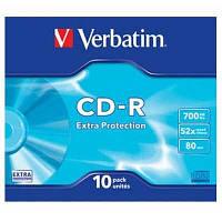 Диск CD-R  Verbatim 700Mb/80m 52-x  Extra slim