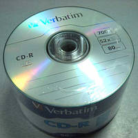 Диск CD-R  Verbatim 700Mb/80min 52x (Wrap 50 ) 43787 (Акция!!!)