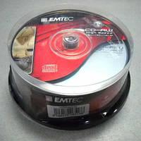 Диск CD-RW   Emtec 700Mb 4-10x   (cake 25)