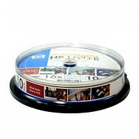 Диск HP  4.7Gb  -16x  (cake 10)  DVD+R