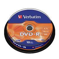 Диск Verbatim 4.7Gb -16x   (cake 10) azo  DVD-R