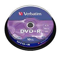 Диск Verbatim 4.7Gb -16x   (cake 10) azo  DVD+R