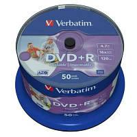 Диск Verbatim 4.7Gb -16x   (cake 50) azo   DVD+R  printable 43512