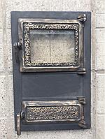 Дверца для печи и барбекю Спарка, печная дверца со стеклом