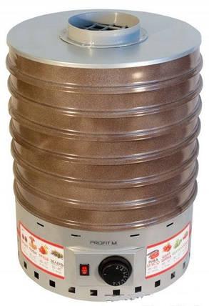Бытовая  электро сушка для овощей и фруктов ProfitM ЕСП2 820вт 20л. (серая) , фото 2