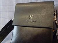 Мужская сумка Bradford 886-5 черная искусственная кожа, фото 1