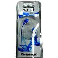 Наушники  Panasonic RP-HJE118GU--A  blue