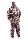 Зимний рыбацкий костюм Сосновый лес, толстый слой синтипона, водонепроницаемая мембрана алова, -30с комфорт , фото 2