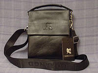 Мужская сумка Gorangd 886-5 черная искусственная кожа, фото 1