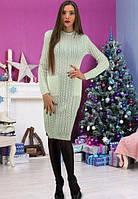 Вязаное  женское платья за колено 2 цвета
