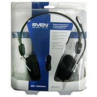 Наушники с микрофоном Sven GD-330MV с рег.громкости (silver-black)