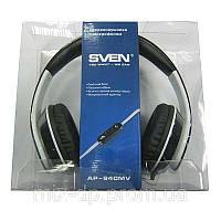 Наушники с микрофоном Sven GD-940MV(черно-белые) с регелятором громкости