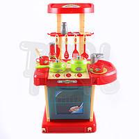"""Кухня детская игровая с духовкой Tobi Toys """"02"""" в чемодане (интерактивная кухня, кухня для детей)"""