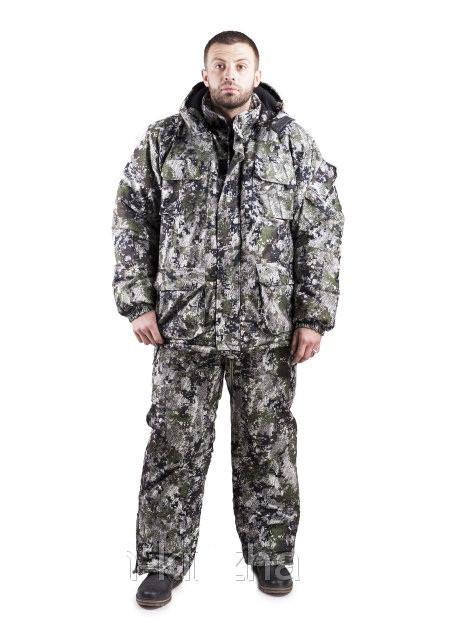 Зимний костюм для охоты и рыбалки, теплый и надежный полукомбенизон штаны, -30с комфорт