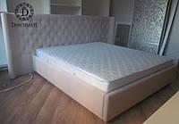 Кровать с нестандартным изогнутым изголовьем на заказ