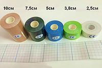 Кинезио тейп ( Kinesio Tape ) 5 см х 5 м, 7.5см х 5м, 10см х 5м черный 7.5см