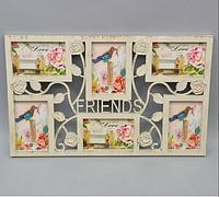 """Фотоколлаж """"Friends"""" (33*53 см) на 6 фотографий"""