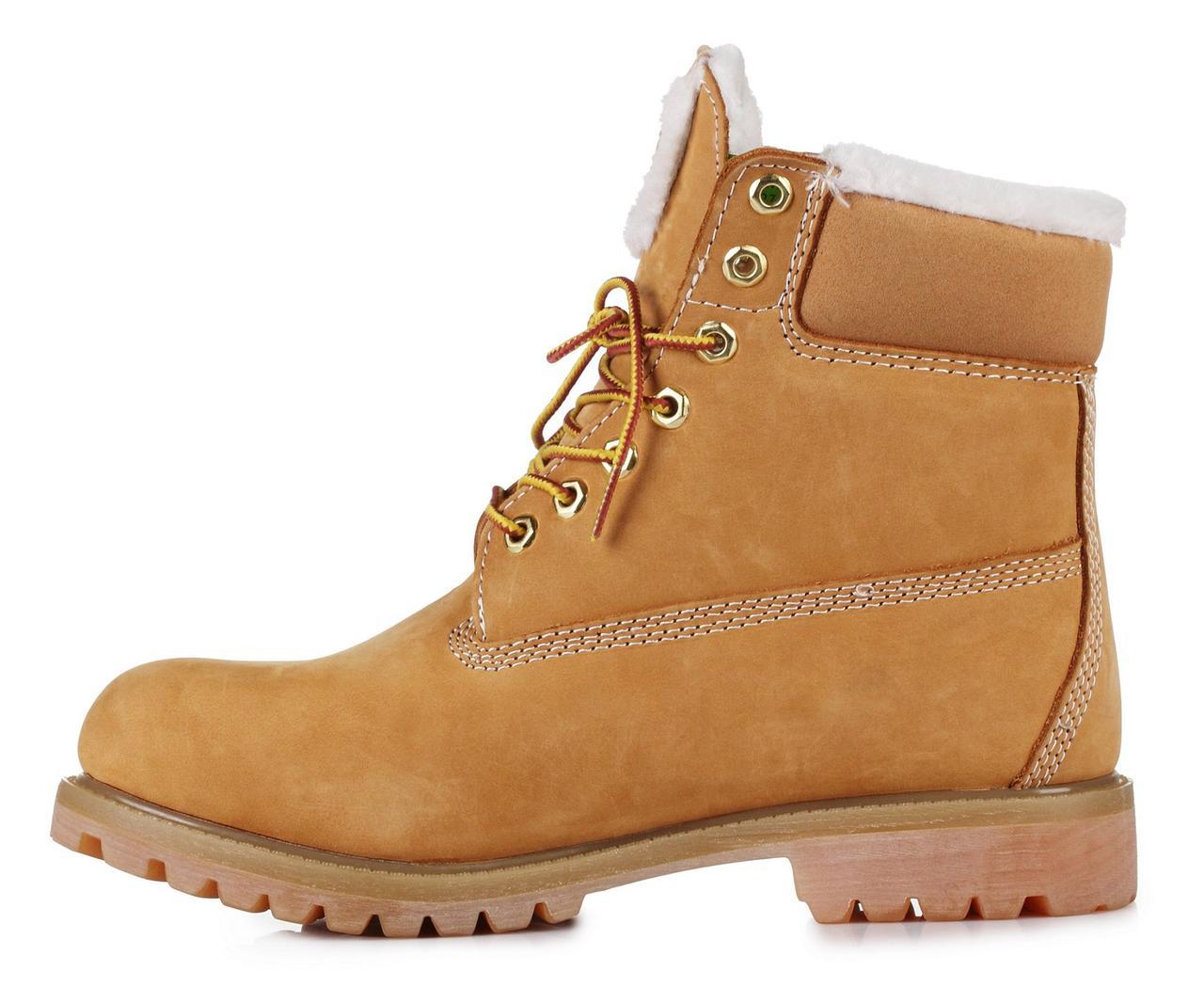 Ботинки Timberland женские Classic 6 inch Yellow Winter Fur (с мехом), ботинки Тимберленд женские - интернет-магазин обуви «Walking» в Киеве