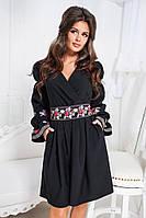 Красивое нарядное платье с карманами и поясом